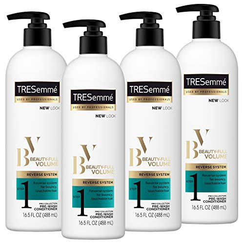 TRESemmé Pre-Wash Conditioner, Beauty Full Volume, 16.5 oz,(Pack of 4)