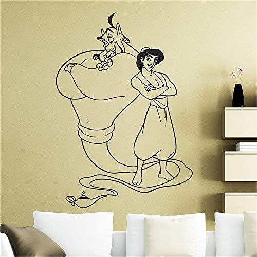 La bella y la bestia etiqueta de vinilo Aladdin y la lámpara mágica pegatina decoración del hogar cualquier habitación pegatina