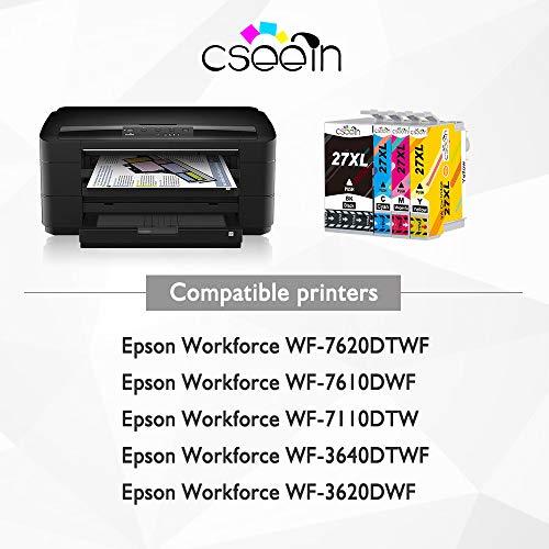 Cseein Compatible 27XL Cartuchos de Tinta Gran Capacidad para ...