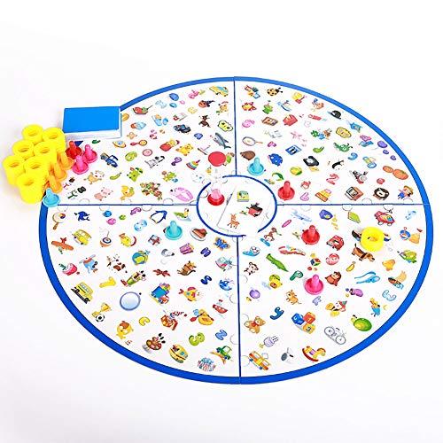 CXD Juego Mesa, Juegos educativos Juegos Mesa pequeño Detective para niños Juguetes para Juegos Juego Regalo niños A Partir de 3-9 años de Edad los niños y niñas Infantiles,1