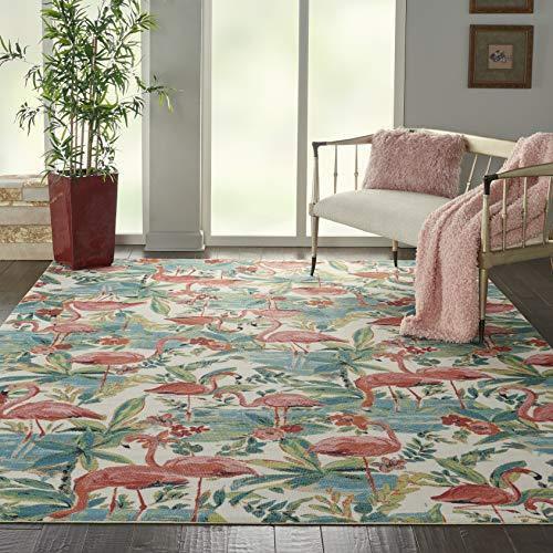 Waverly Sun N Shade Indoor-Outdoor Botanical Multicolor Oversized 7'9