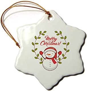 Mesllings muñeco de Nieve Feliz Navidad Ornament-Special Custom Kids Navidad Unique Holiday Decor Regalo Ornaments-Personalizado Copo de Nieve Porcelana Ornamento