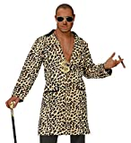 Panelize Rapper Leopardenmantel Leopardenjacke mit Zigarre und Brille Lude (M/L)