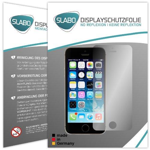 Slabo 4 x Bildschirmschutzfolie für iPhone 5 5S 5C SE Bildschirmfolie Schutzfolie Folie Zubehör No Reflexion MATT - entspiegelnd Made IN Germany