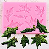WYNYX Stampi in Silicone Albero di Pino Foglie Confine Torta di Natale Fondente Strumenti per la Decorazione di Torte Fai da Te Candy Clay Chocolate Gumpaste Mold