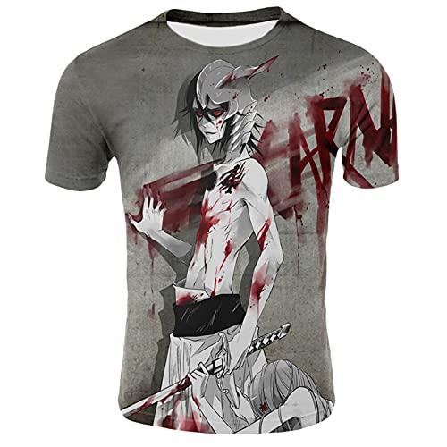 YJXDBABY-Bleach-Camiseta Unisex para niños, Camisetas Informales de Verano con Estampado 3D, Camisetas de Manga Corta para Hombres y Mujeres, Disfraz de Cosplay-140