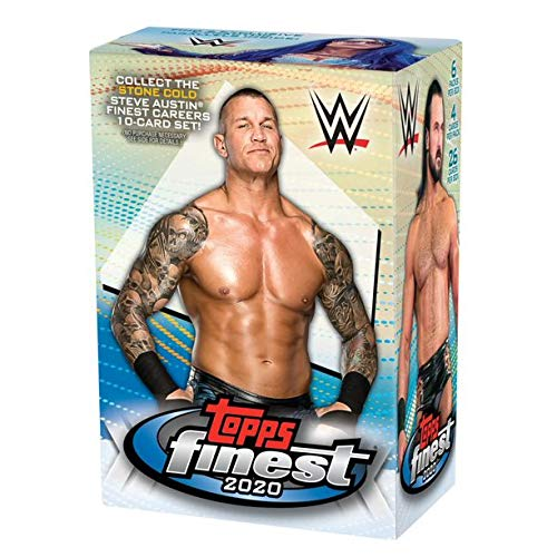 2020 Topps WWE's Finest Wrestling Trading Cards Blaster Box- 26 Cards | 2 Exclusive Refractor Parallels