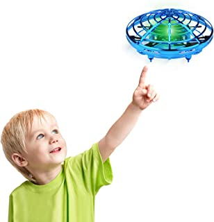 Desuccus Flying Toys Drones for Kids & Adults, Hands Controlled Mini Drone Helicopter with 360° Rotating and Shinning LED Lights, Easy Indoor Flying Ball Drone Toys for Boys or Girls