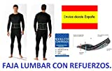 Faja Lumbar Talla XXL 110-130cms con Refuerzos para Moto, Quad, Espalda Lumbar Proteccion