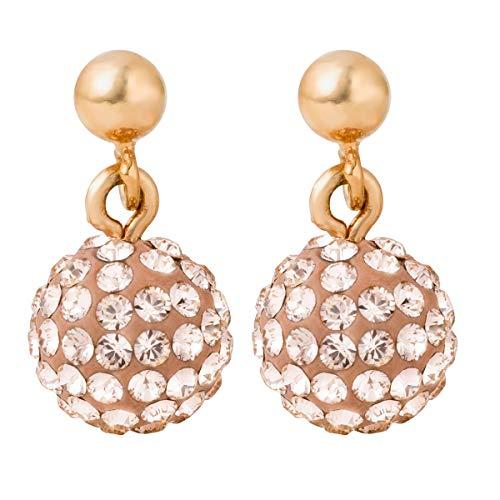 PIPPA&JEAN Ohrhänger Swarovski Kristalle rosevergoldet