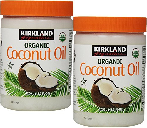 Pack of 2 Kirkland Organic Virgin Coconut Oil 42.3 Fl Oz (Total 84.6 Fl Oz)