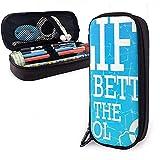 Étui à stylo en cuir La vie est meilleure à la piscine Porte-étui à crayons Stylo Cosmetic Makeup Pouch Bag