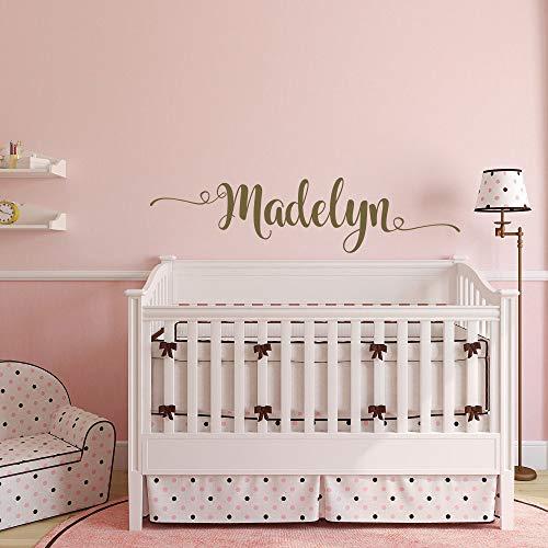 Autocollant mural avec inscription « Beautiful Name » - Pour bébé fille - Pour chambre d'enfant