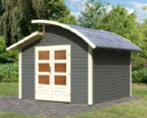 Karibu Gartenhaus 28mm Almelo grau 363x363cm