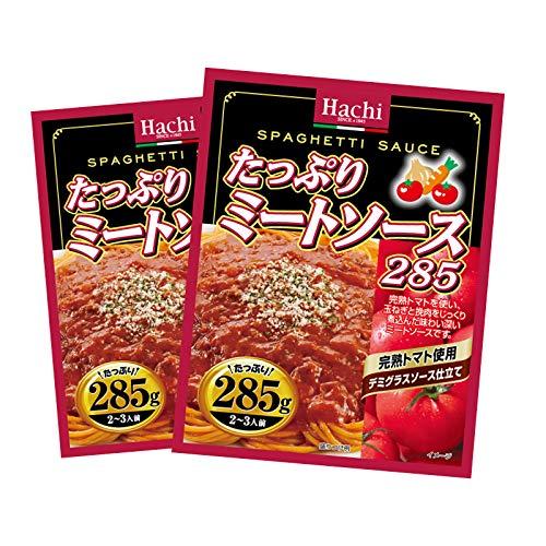 パスタ たっぷり ミートソース 完熟トマト使用 デミグラスソース 2袋 (285g×2) 4〜6人前 仕立て レトルト スパゲティ ソース グラタン リゾット ハンバーグ 非常食にも MAEDAYAマガジンセット