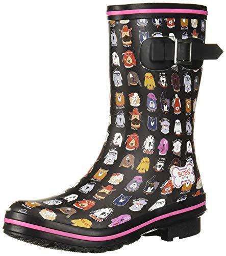 Skechers BOBS Women's Rain Check-May Flowers Boot, Bkmt, 9 M US