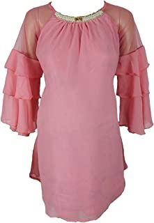 M4M Fashion Maternity Blouses For Women - Pink - small