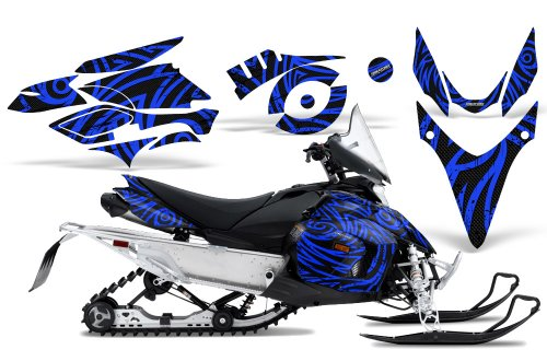 CreatorX Graphics Kit Decals Stickers for Yamaha Phazer Rtx Gt Mtx Snowmobile Sled TribalZ Blue