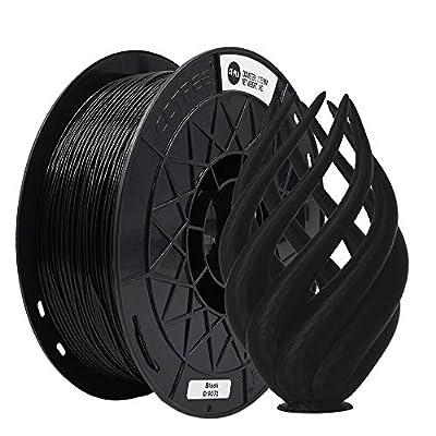 CCTREE 3D Printer PLA(ST-PLA) High Rigidity Creality CR-10S Ender 3 Pro S5 Accuracy +/- 0.03mm 1kg Spool (2.2lbs) (Black)