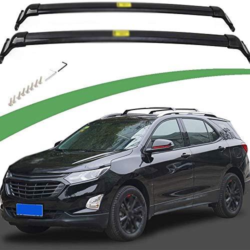 LQIAN 2pcs Frontal De Aluminio Trasero De Aluminio Barra Transversal Cruz Rack Riel De La Barra En Forma Fit For Chevrolet Equinox 2018 2019 2020 Cruz De Coches Bares