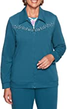 Alfred Dunner Women's Comfortable Situation Chevron Jacket