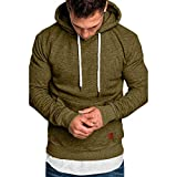 FZAI 2020 New Hoodies Sweatershirt Men's Autumn Winter Slim Fit Solid Color Long Sleeve Pullover Tops Shirt...