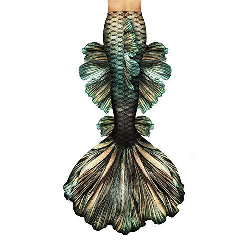 Costume da Bagno A Coda di Sirena, Sirena Bambina, Costume da Bagno A Forma di Coda di Sirena, Regalo per Donna Set Bikini nuotabile a Coda di Sirena (Color : Style-P, Size : Tailored)