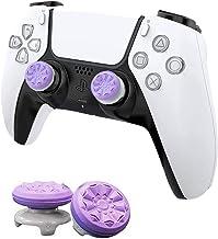 MAXKU FPSフリーク PS5 PS4 コントローラー用 親指グリップキャップ 可動域アップ プレイステーション5コントローラ用 FPS Freek 2つのパフォーマンスサムスティック (紫の)