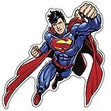 Fan Emblems Superman Sticker de caractère bombé/Multicolore/Transparent, l'autocollant...