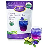 BIG PACK Organic Butterfly Pea Flower Tea 3.5Oz, Ideal for 500 cups or more, Premium Dried Flowers for Drinks and Food Coloring, Purple, violet, Clitoria Ternatea, Vegan Herbal Teas by PICKNATURE