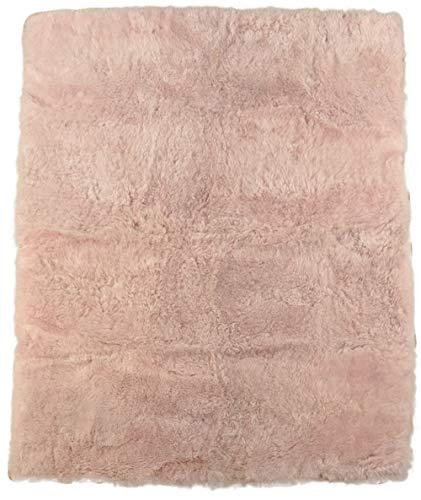 generisch Alfombra de Pelo de Cordero con Certificado ecológico, Color Rosa Claro, de Pelo Corto. PHc - Alfombra de Pelo (210 x 165 cm), diseño de Islandia