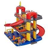 COLOR TREE Parking Garage Playset for Toddler Car Garage for Boys (M-Size)