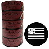 Jake's Mint Chew Cinnamon Pouch 5 Cans with DC Crafts Nation Skin Can Cover - US Flag