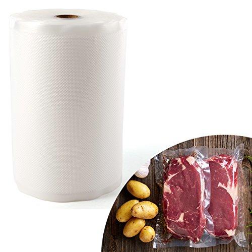 Anladia Folienrolle 20cmx3000cm/1 Roll Vakuumfolie Beutel wiederverwendbar rutschfest für Lebensmittel Sous-Vide, für Folienschweißgeräte Kochfest Profi- Folienbeutel Lebensmittellagerung(M)