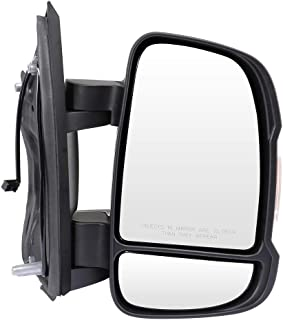 ECCPP Passenger Side Mirrors, Right Side Rear View Mirrors Manual Adjustment Manual Folding Turn Signal Black Door Mirror Replacement fit for 2014 2015 2016 2018 2019 Ram ProMaster 3500