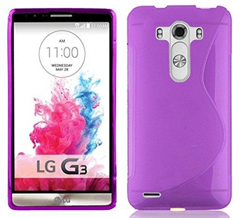 Cadorabo Funda para LG G3 en ORQUÍDEA Violeta - Cubierta Proteccíon de Silicona TPU Delgada e Flexible con Antichoque - Gel Case Cover Carcasa Ligera