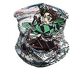 KPSHY Anime Écharpe Cou Leggings Cagoule Démon Slayer Kamado Tanjirou Bonnet Bandeau sans Couture Respirant Haute Élasticité Dessin Animé Impression 3D Impression Numérique Activités De Plein Air