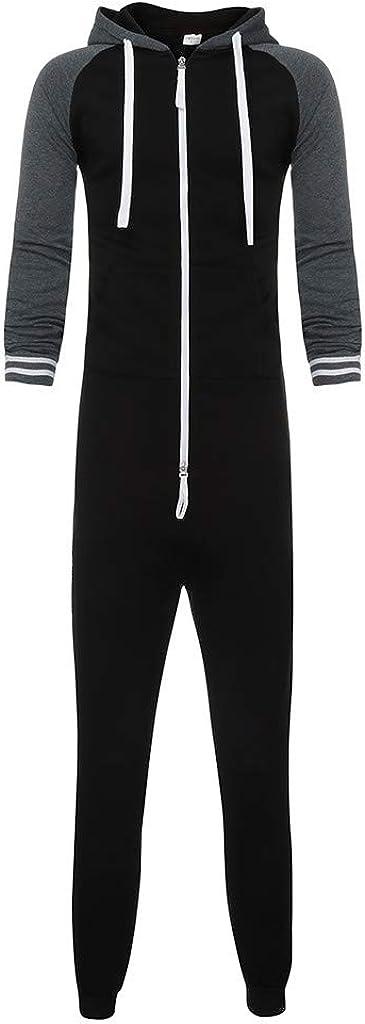 HARRYSTORE Onezie All-in-One Mens Snuggle Zip Up Super Soft Fleece Hooded Onezee Jumpsuit M L XL XXL XXXL