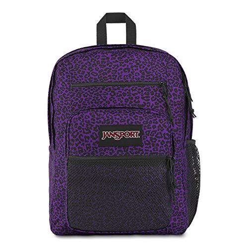 Jansport Big Campus Backpack - Lightweight 15' Laptop Bag | Purple Leopard Life
