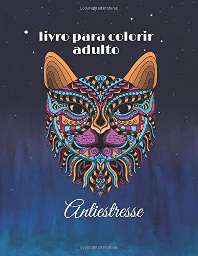 livro para colorir adulto Antiestresse: Coloração adulta para aliviar o estresse Gato e cavalo anti-stress: Livro de colorir adulto anti-stress com 50 desenhos que aliviam o estresse