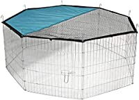 Outdoor enclosure 8 square Galvanized With door With net and sun protection shield Easy to assemble with ground spikes