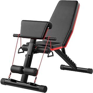 تجهیزات تمرینی قابل تنظیم برای نیمکت وزنه برداری برای بدنسازی خانگی ، دستگاه تاشو چند منظوره تاشو و نشستن دستگاه تجهیزات بدن باریک ، نیمکت شیب دار AB برای تجهیزات آموزش قدرت