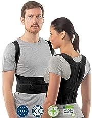 Rugbrace postuur corrector voor mannen en vrouwen van aHeal | Geavanceerde rugondersteuning en ondersteuning van de bovenste lumbale ruggenwervels | Complexe postuurcorrectie