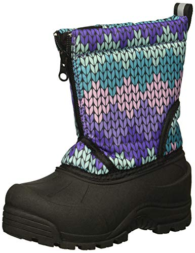Northside Baby-Girl's Icicle Snow Boot, Purple/Turquoise, 5 Medium US Toddler