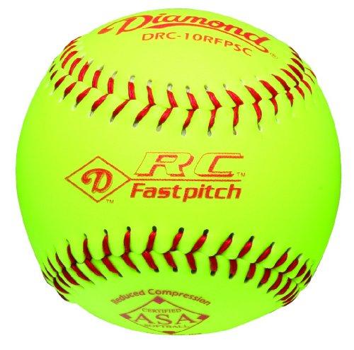 Diamond Reduced Compression Fastpitch Softball, ASA Stamped, Dozen