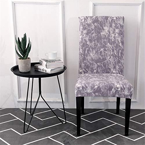 Eetstoelhoezen Stoelhoezen, Chickwin-stoelbeschermer stretch afwasbare stoelhoezen Zachte rekbare voor thuiskeuken Hotel Eetkamer Banket Bruiloftsrestaurant (Illusione nebulosa,4 stuks)
