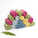Baby-Tücher in Regenbogenfarben, schwere Baumwolle, 25 Stück, 15 x 15 cm