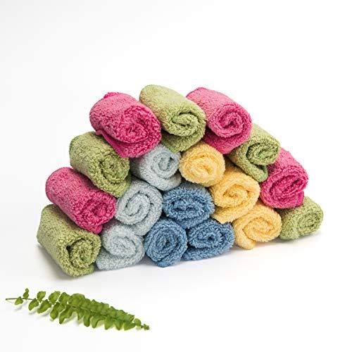 Cheeky Wipes Organic Premium Rainbow 'Zero Twist' schwere Baumwolltücher, 25 Stück