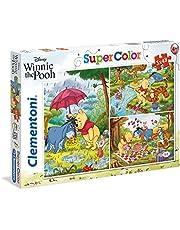 Clementoni - 25232 - Superfärgat pussel för barn - Nalle Puh-3 x 48 delar Disney