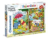 Clementoni- 3 Puzzles 48 Piezas Winnie The Pooh, Multicolor (25232.9)
